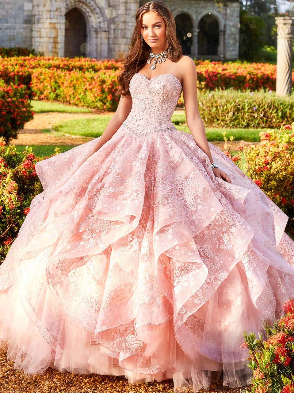 a8aa6bfd6 Princesa Quinceanera. $1,198.00. fully lace embroider ball princesa by ariana  vara pr11933. Free shipping