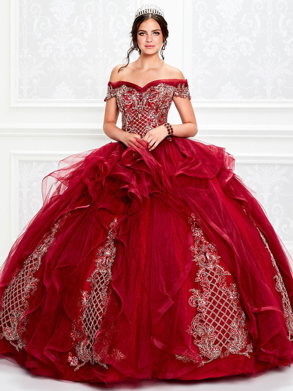 4050459f5 Princesa Quinceanera. $998.00. brocade off the shoulder ball princesa by ariana  vara pr11934