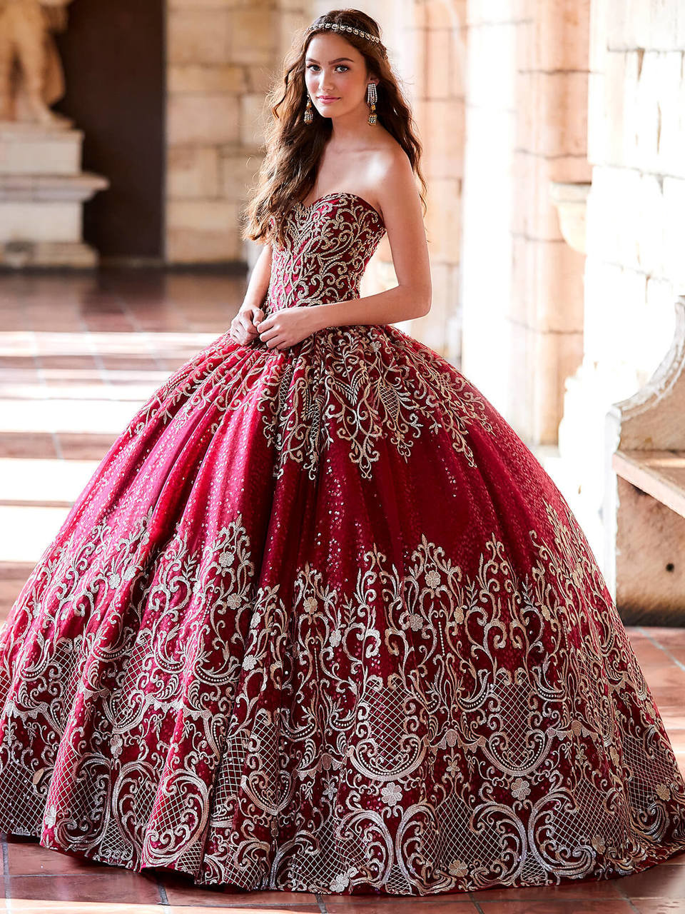 79aedcabf64 sweetheart embroidered lace ball princesa by ariana vara pr11945