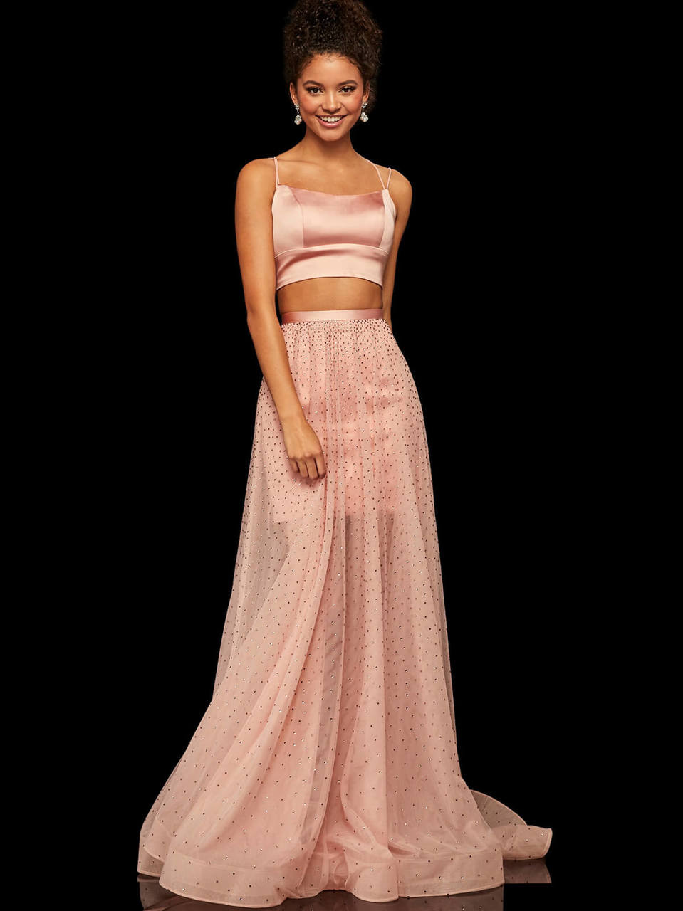 bd52a1be2703 Two Piece Sherri Hill Prom Dress 52749 - PromHeadquarters.com
