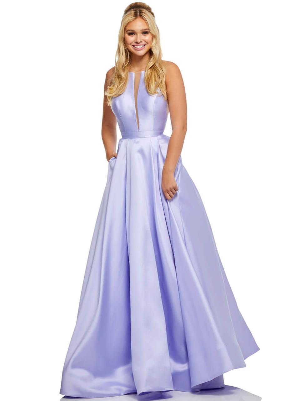 1c69ed1cc83 High Neckline A-line Sherri Hill Prom Dress 52583 - PromHeadquarters.com