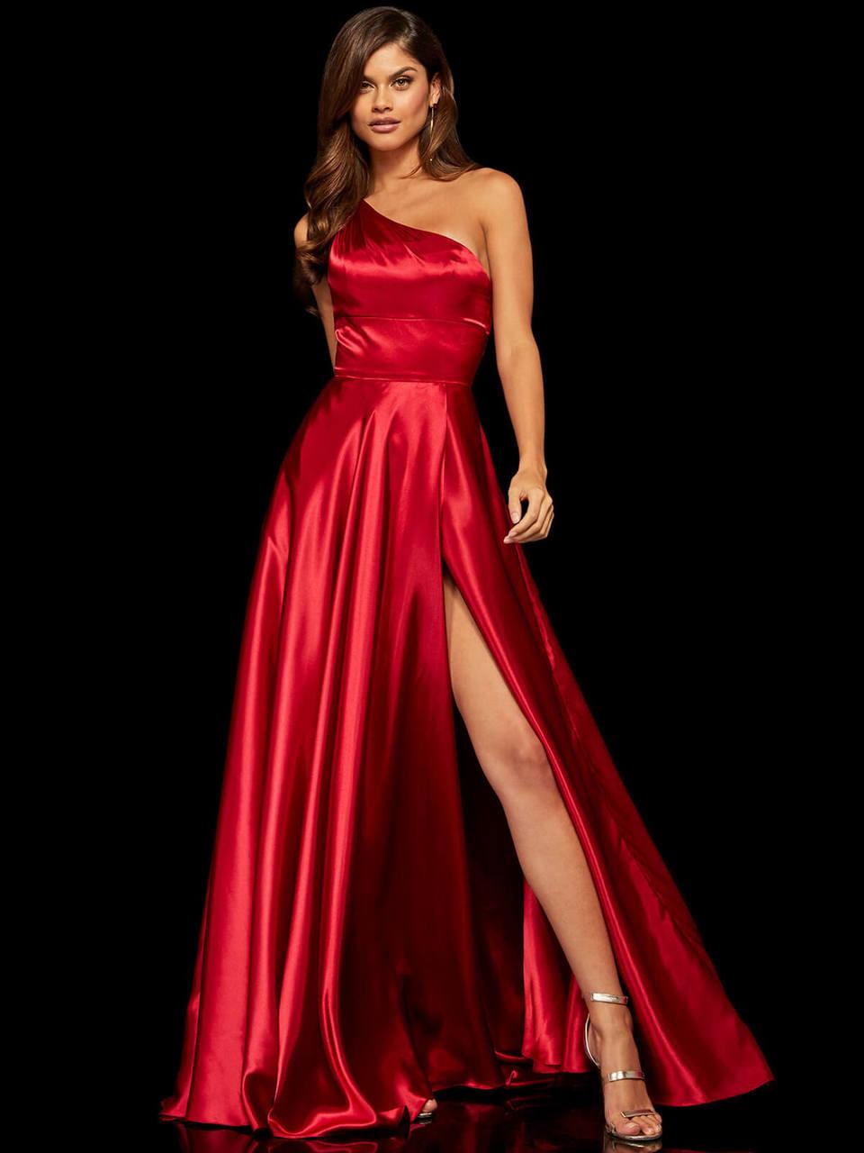 a29089ebc3 One Shoulder A-line Sherri Hill Prom Dress 52750 - PromHeadquarters.com