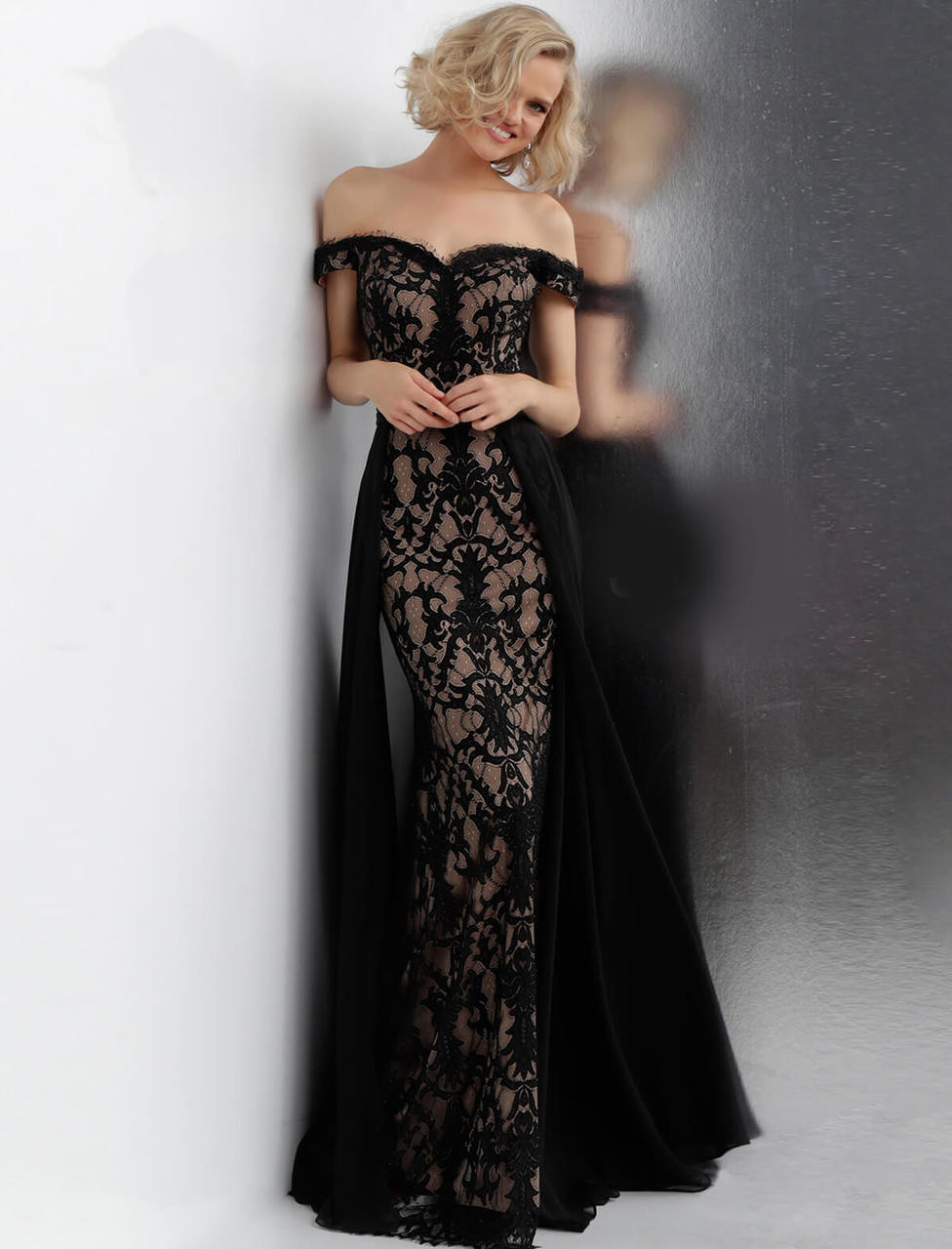 4a3b410da27 Off The Shoulder Jovani Prom Dress JVN62489 - PromHeadquarters.com