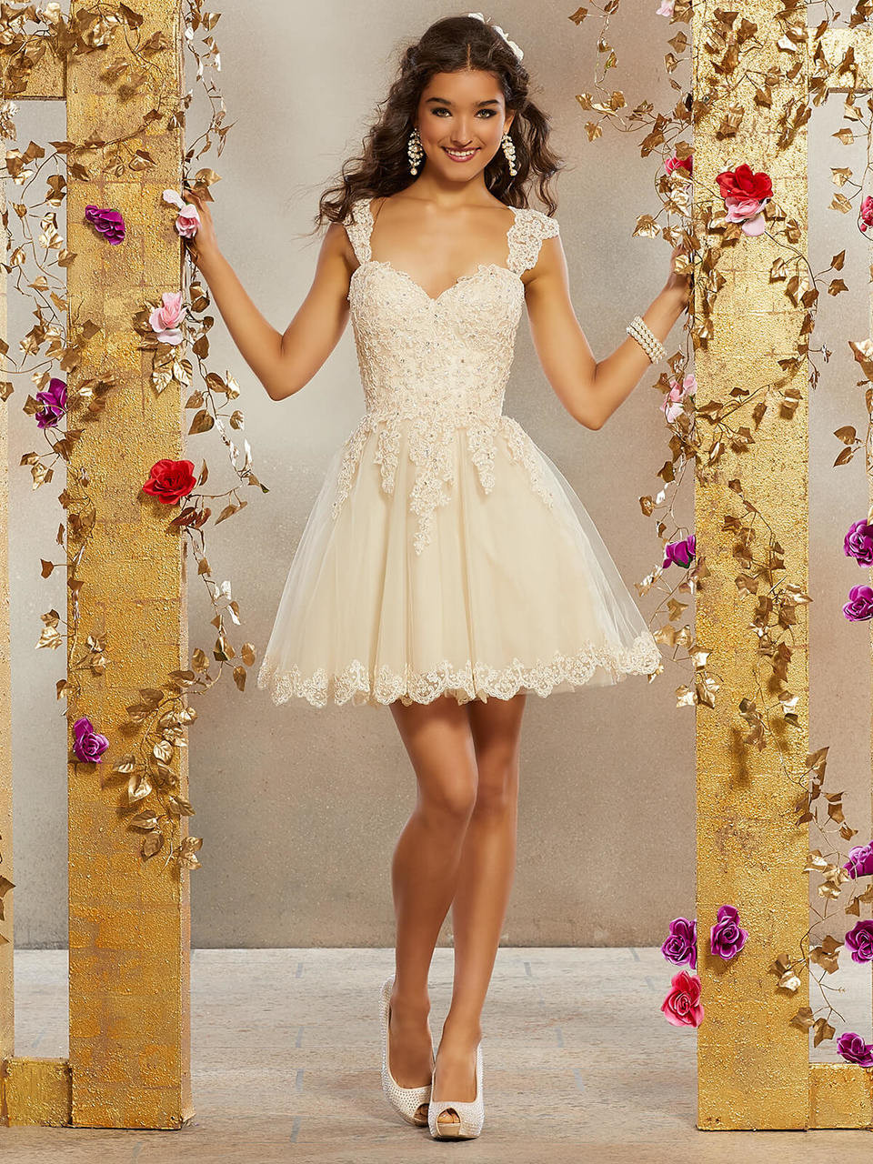 1123f9a3ebb Sweetheart Damas Quinceanera Short Dress 9505 - PromHeadquarters.com
