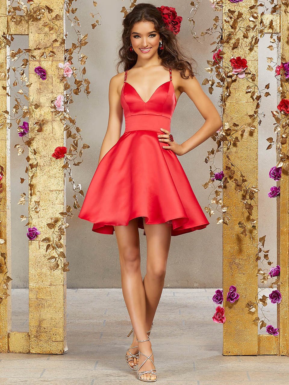 93effe9184f A-line Damas Quinceanera Short Dress 9506 - PromHeadquarters.com