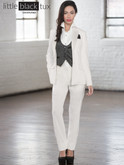 Diamond white tuxedo jacket, vest and pants