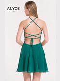 Chiffon A-line Short Dress Alyce 3717