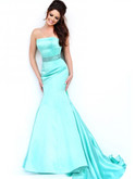 strapless sherri hill dress in ivory style 32194 on sale