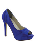"Dyable 4"" Heel Peep Toe Prom Shoes Emmy 614"