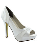 dyable white satin prom shoe emmy