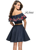 Two Piece Denim La Femme Short Dress 26627