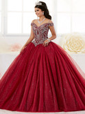 Cold Shoulder Tiffany Quinceanera Sparkle Tulle Dress 26899