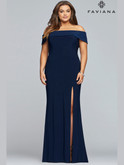 Faviana Off Shoulder Jersey Prom Dress 9441