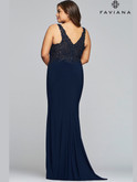 Faviana V-Neck Jersey Prom Dress 9463
