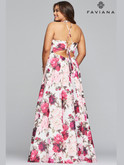 Faviana Floral Chiffon Prom Dress 9468