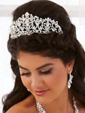 Regal Rhinestone Mid Size Royale Princess Tiara T2322