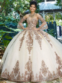 bell sleeves vizcaya quinceanera ball gown 89255