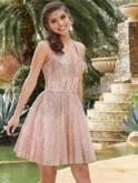 halter damas quinceanera short dress 9517