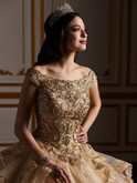 Off The Shoulder Quinceanera Collection Ball Gown Dress 26929