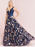 plunging v-neck prom dress panoply 14022