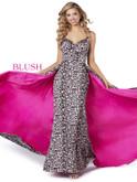 V-neck Blush Prom Dress 11915