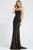 strappy open back evening dress ieena for mac duggal 26269i