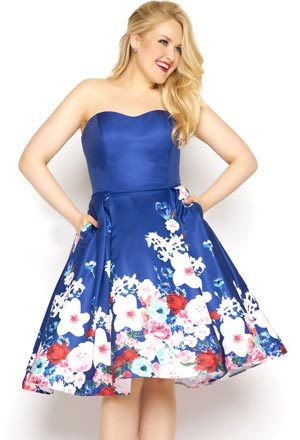 Hairstyle to go with Plus Size Homecoming Dress
