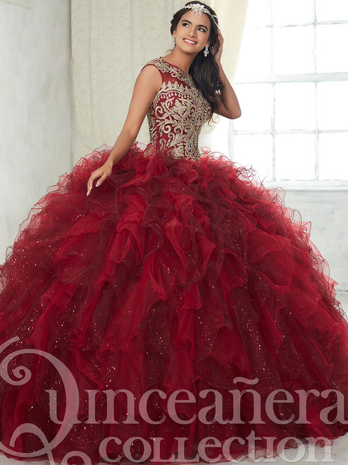 69c6e9971c Sparkle Tulle Ruffled Ball Gown Tiffany Quinceanera Dress 26835