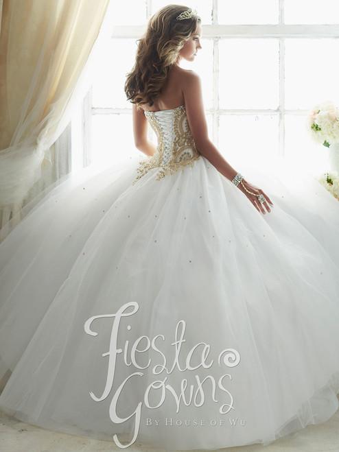 cc1317792e5 High Neck Ball Gown Fiesta Quinceanera Dress 56318 ...
