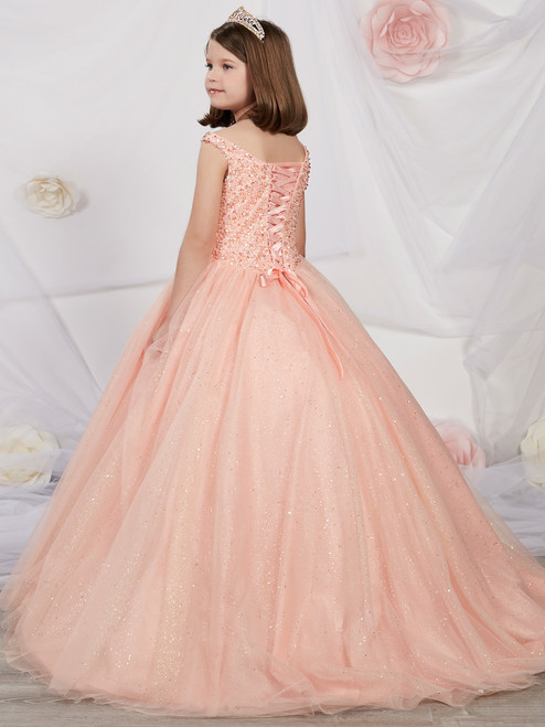 1adbd07e54f Dazzling Beaded Tulle Ball Gown by Tiffany Princess 13505