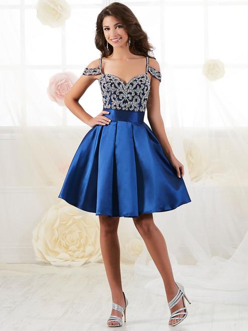 b0f7c6f0e83 Cold Shoulder Damas Short Evening Dress 52430