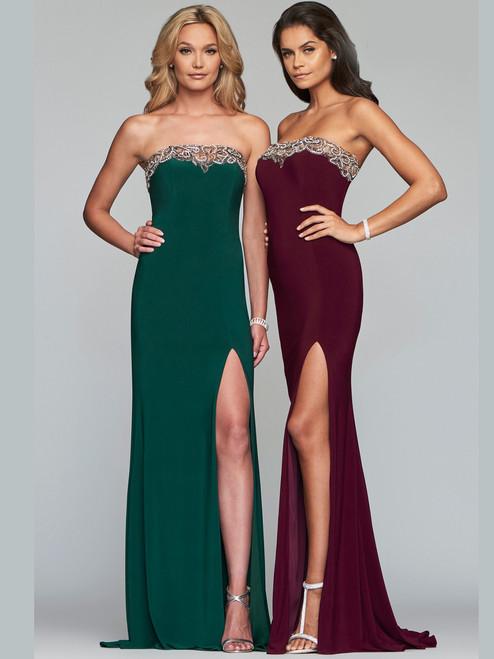 06baf5a11e9 Strapless Chiffon Faviana Prom Dress S10232
