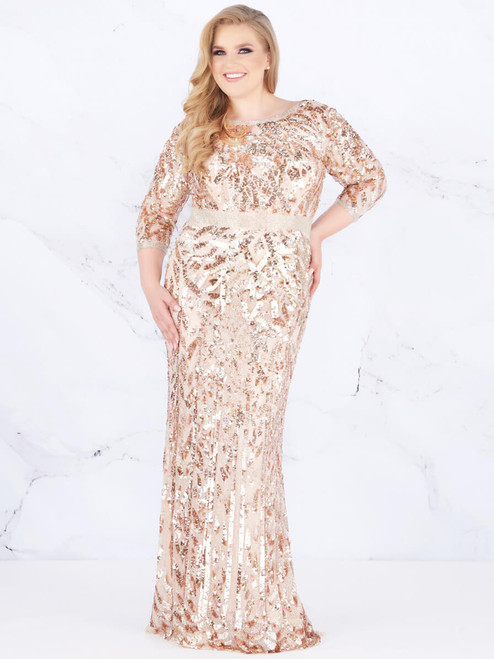 2145f17049e2 boat neckline sequin long sleeves fabulouss prom dress 4857F