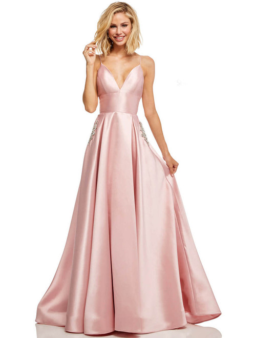 dec3b157848 Scoop Neckline A-line Sherri Hill Prom Dress 52715 ...