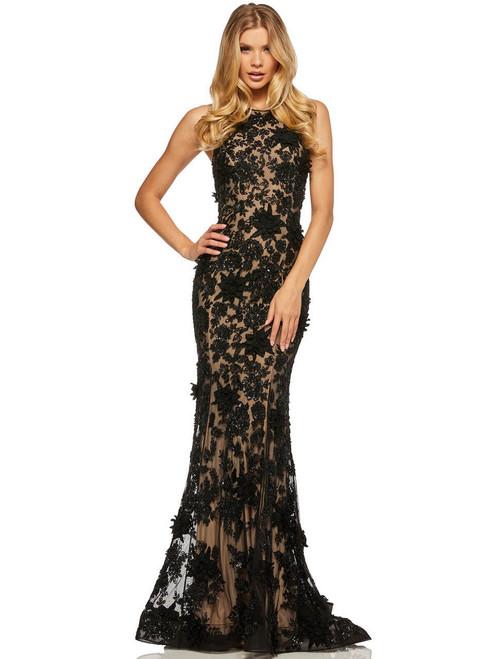 bcc3740b1d8 High Neckline Sherri Hill Prom Dress 52426 - PromHeadquarters.com