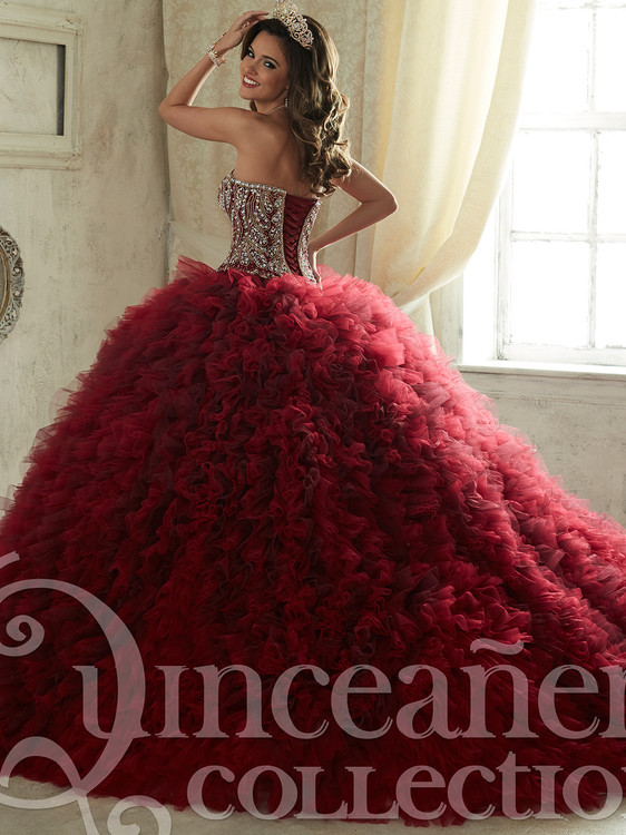3466c44d3 Tiffany Tulle Ball Gown Quinceanera Dress 26838 | PromHeadquarters.com