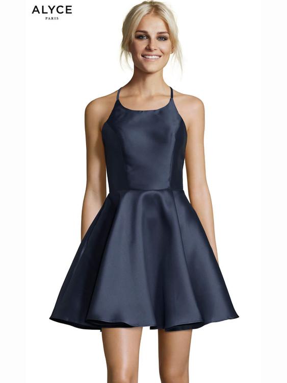 6119f70e43e5 Alyce 3703 Racerback Short Dress | PromHeadquarters.com