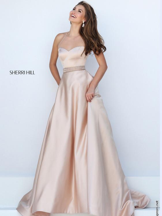 Beaded Waist Prom Dress by Sherri Hill 50222