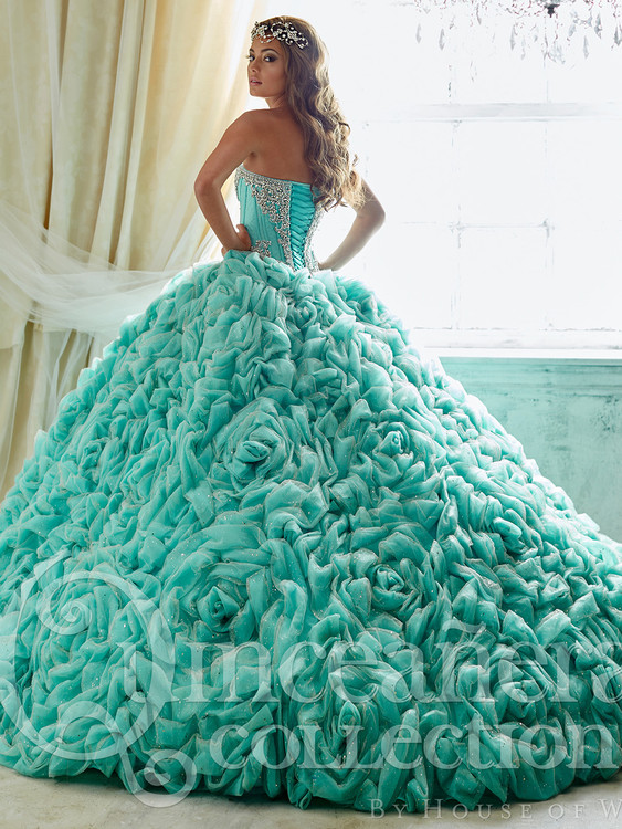 88b6412c4cf ... Strapless Quinceañera Collection Prom Dress 26800