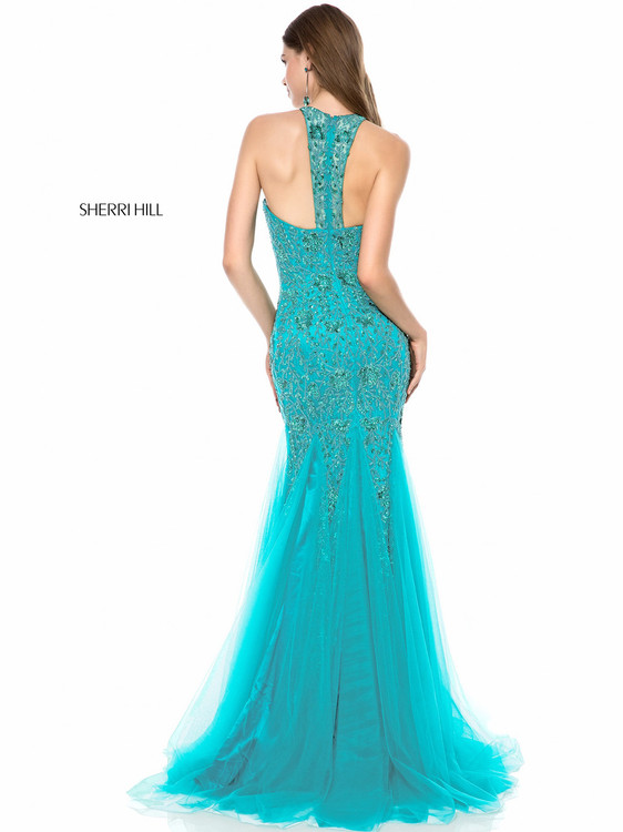 8ccc36b6aa8 Beaded Layered Lace Sherri Hill 51939 ...
