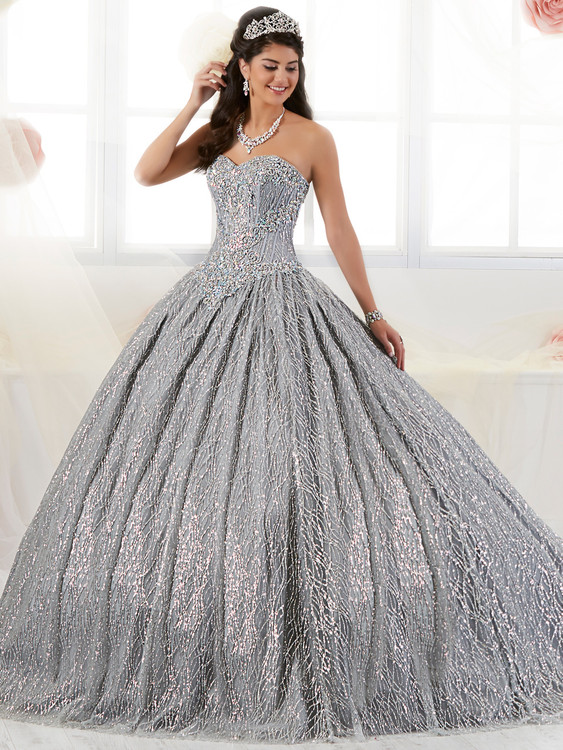 Sweetheart Glitter Tulle Tiffany Quinceanera Ball Gown Dress 26896