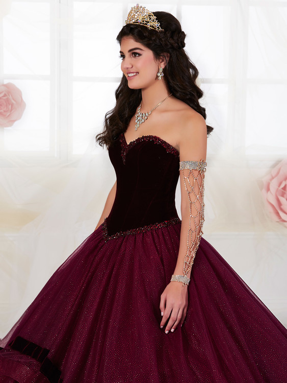 dc13c53092 Sweetheart Velvet Tiffany Quinceanera Tiered Ball Gown Dress 26907 ...