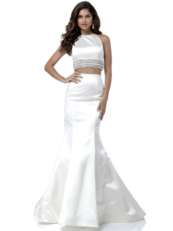 Two Piece Halter Sherri Hill Dress 51581