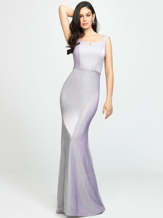 glitter jersey sheath prom dress madison james  19-175