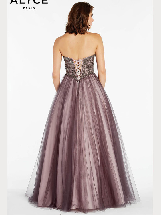 aec9f5cf2f9 Sweetheart A-line Alyce Paris 60360 Prom Dress - PromHeadquarters.com