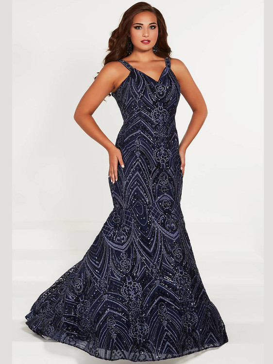 Mermaid Plus Size Prom Dress Tiffany Designs 16376