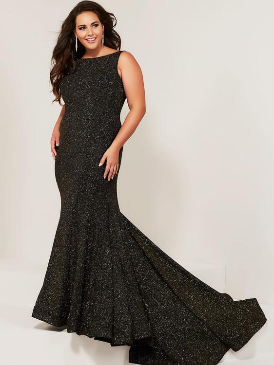 Scoop Neckline Plus Size Prom Dress Tiffany Designs 16377