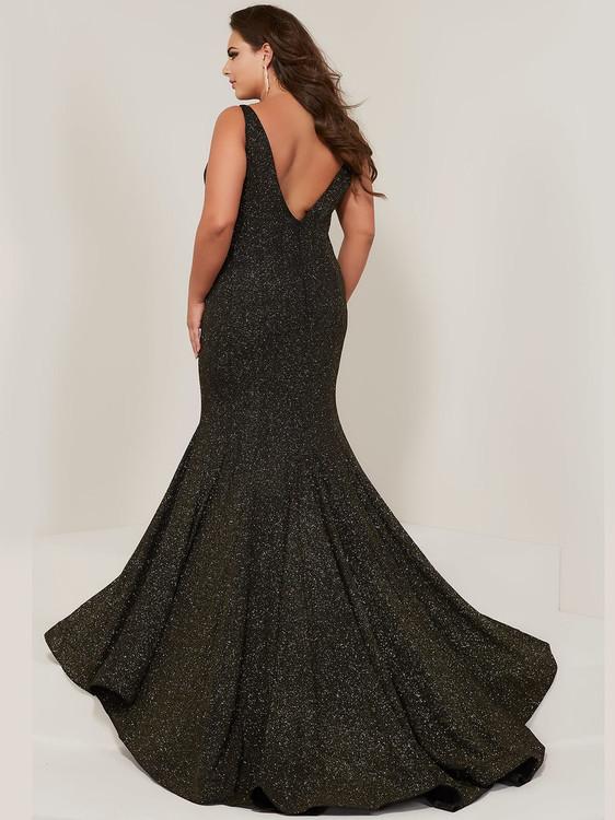 b2b90f69f85 ... Scoop Neckline Plus Size Prom Dress Tiffany Designs 16377 ...