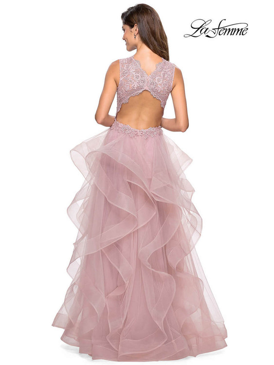 V-neck La Femme Prom Dress 27570