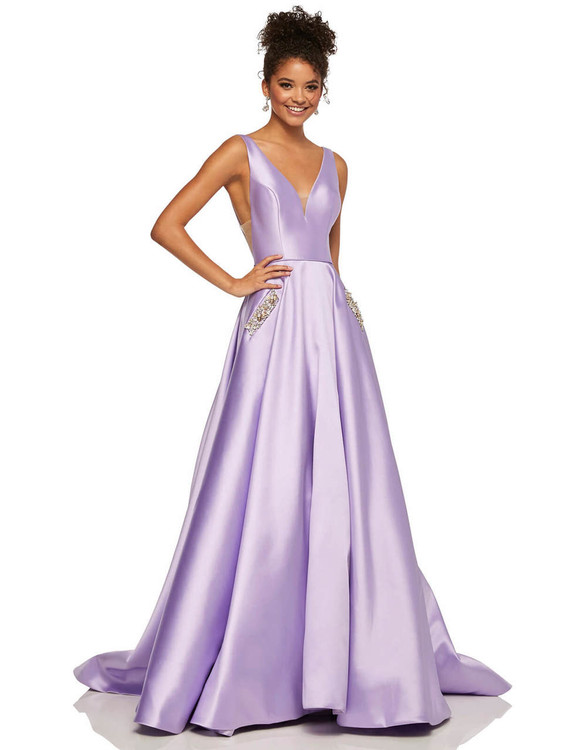 v-neck sherri hill prom dress 52726